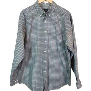 Eddie Bauer | long sleeve gingham button up shirt